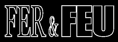 Logo Fer et Feu blanc