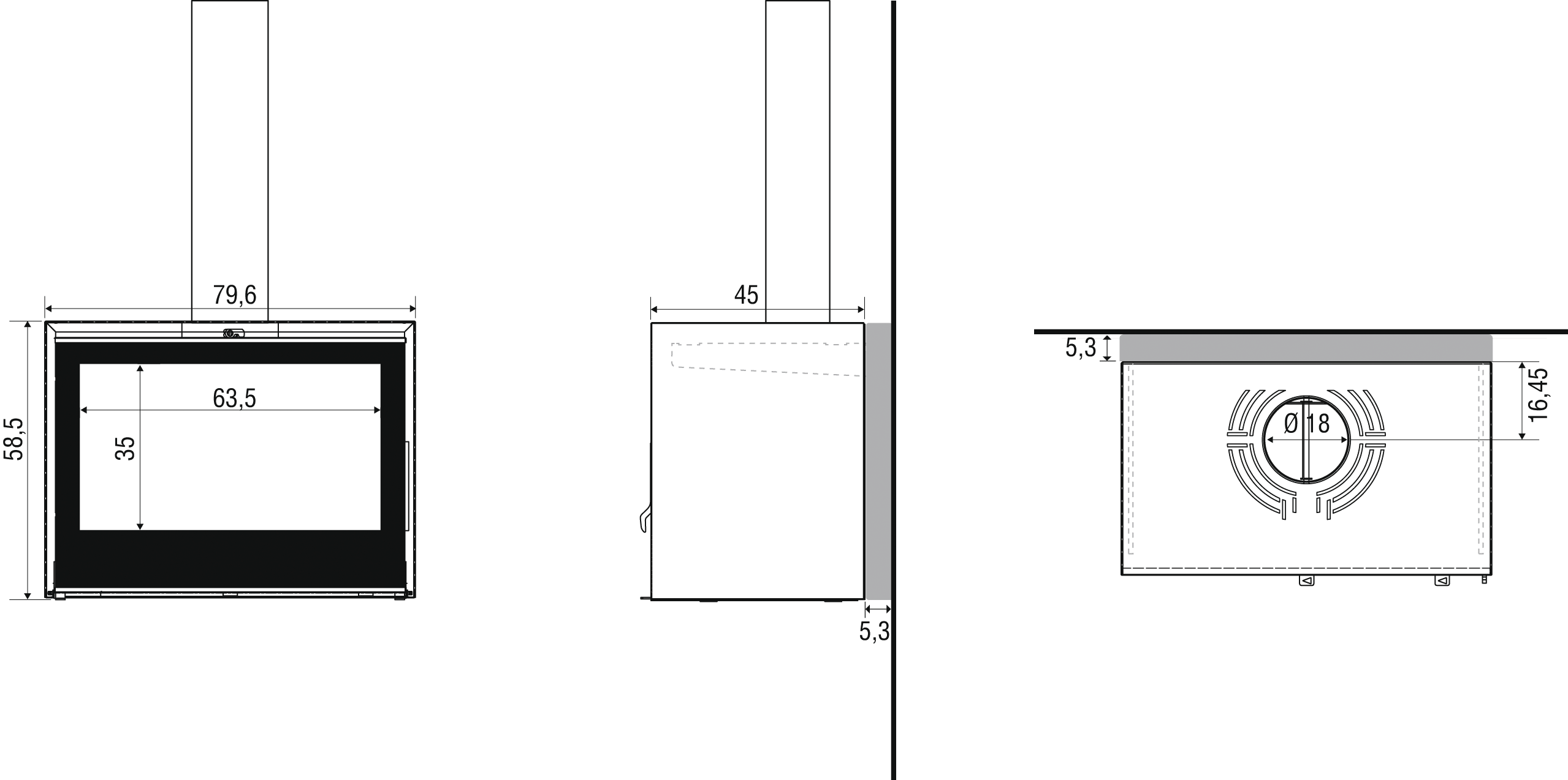 I800P Suspendu - Schema